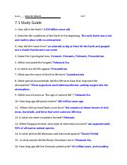 7.1 Study Guide