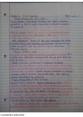 Civil liberties notes