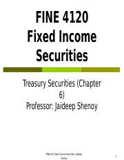 FINE 412 Chapter 6 (Treasury Markets) Spr 2016.ppt