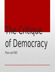 Lecture Six - The Critique of Democracy.pptx