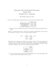 Econ 340 - PS2 Solutions