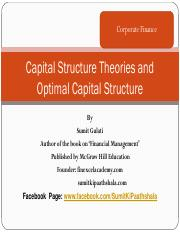 Capital Structure Theories and Optimal Capital Structure_Final_To Send.pdf