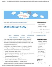 What is Multisensory Teaching Techniques_ _ Learning Center for children who learn differently, thei