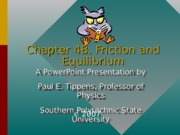 Chapter4B Friction and Equilibrium