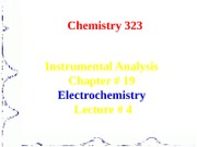 Electrochemistry Lecture 4