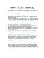 hesi case study cervical cancer