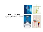 Solutions and Reactions in Aqueous solutions