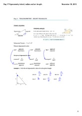 Trigonometry intord, radian and arc length