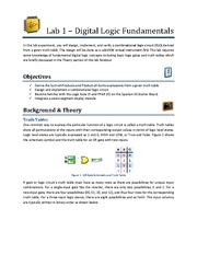 Lab 1 - Digital Logic Fundamentals