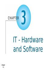 AIS - Chapter 3 - IT Hardware and Software  - Student.pptx