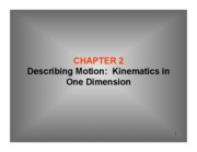 2 Kinematics in 1-D-1