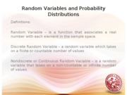 Lesson 5 Random Variable and Probability Distribution