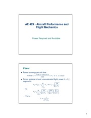 lecture 9 on Aircraft Performance and Flight Mechanics