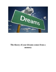 The theory of your dreams comes from a memory
