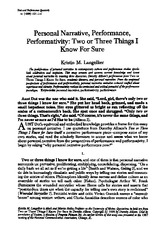 Personal Narrative, Performance, Performativity (1).pdf