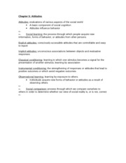 APSY270 Chapter 5 Review Sheet