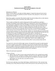 Kant's Ethics Notes for Essay 4