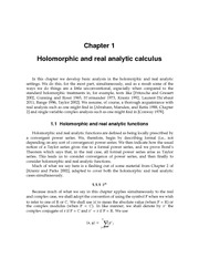 Holomorphic and real analytic calculus
