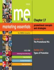 Marketing Essentials_ Chapter 17_ Promotional Concepts and Strategies_
