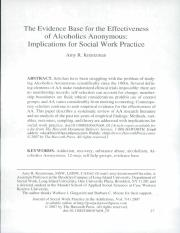 EB for the Effectiveness of AA - Implications for SW