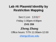 Lab _6 Restriction mapping friday