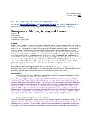 osteoporosis case study marissa jeremy and eleanor