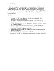 Essay 4 Interview Questions