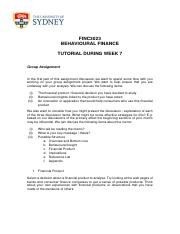 Feedback for Tutorial during Week 7 - FINC3023 Behavioural Finance  - Semester 1 2016(1)-1.pdf