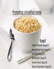 Promoting a breakfast cereal (1)