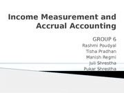 Group 6, Income Measurement & Accural Accounting