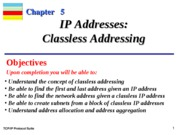 Chap-05 IP Addresses Classfless