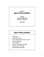 Report Writing Guidlines