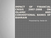Impact of financial crisis 2007-2008 on Islamic and
