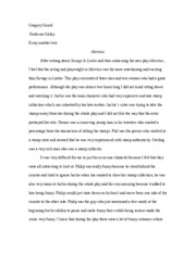 theater 2 essay two maritius