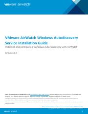 VMware AirWatch Windows Auto-Discovery Service Installation Guide.pdf