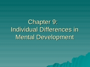 Chapter 9-Cognitive Development Early Childhood PartIV