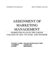 ASSIGNMENT OF MARKETING MANAGMENT- Nguyen Truong Ngoc Thinh