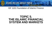 T5_Islamic Financial Markets System