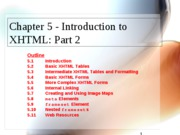 XHTML Part 2