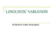 Linguistic Variation