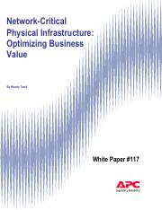 WP-117 Network-Critical Physical Infrastructure - Optimizing Business Value.pdf