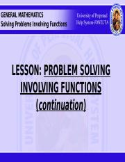 PROBLEM SOLVING INVOLVING FUNCTIONS.pptx - GENERAL MATHEMATICS HUNT ME T P  E T Q O U T O P S R Y O B M T O O M N T A P R O B L E M O O R N W D T E P Z  I | Course Hero