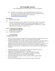 Tiffany Logan Week 2 Full Feasibility Analysis Homework