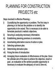 PLANNING FOR CONSTRUCTION PROJECTS etc-P-11 (CTPM).ppt