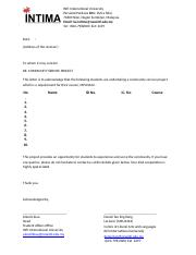 MPU 3442 Acknowledgement Letter (Template)