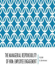 Lecture 3 The Managerial Responsibility of HRM