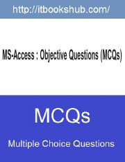 MS-Access  Objective Questions (MCQs) (1).pdf