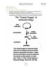 BIOL 251 notes k - ch.11 DNA Replication