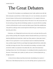 The Great Debaters.docx