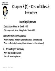 Ch8(1) – Cost of Sale & Inventory